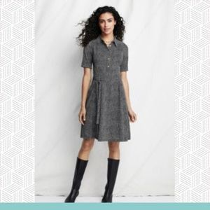 Lands' End - Tweed Pattern Matte Jersey Dress